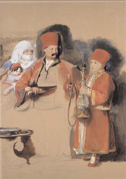 Bay Colquhoun'un tercümanı (dragoman) Sotiri. Ressam: sör David Wilkie, 1839-40