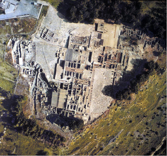 Palace of knossos aerial view