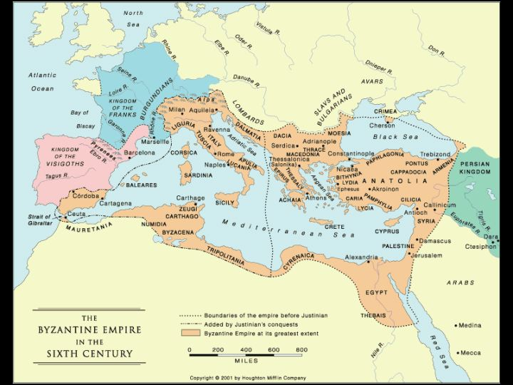 Ancient Byzantine Empire Map