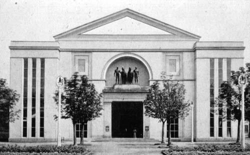 Peter behrens festhalle werkbund exhibition cologne germany 1914
